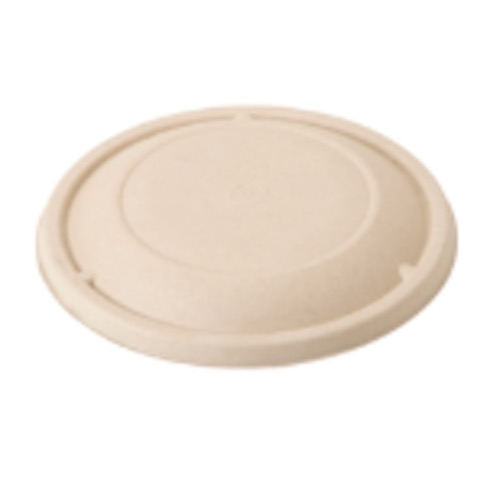 World Centric Fiber Flat Lid for Round Bowl - 16-32 oz - BOL-SC-U24