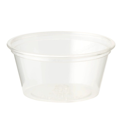 World Centric PLA Clear Souffle / Portion Cup - 2 oz - CP-CS-2S