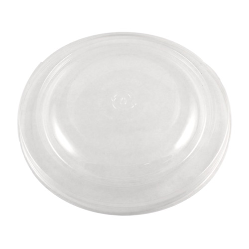 World Centric PLA Clear Flat Lid for Round Bowl - 16-32 oz - BOL-CS-24