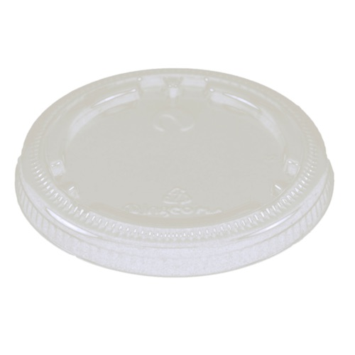 World Centric PLA Clear Flat Lid for Cold Cup - 4-9 oz - CPL-CS-9F
