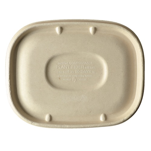 World Centric Fiber Flat Lid for Container - 20-48 oz - CTL-SC-U3