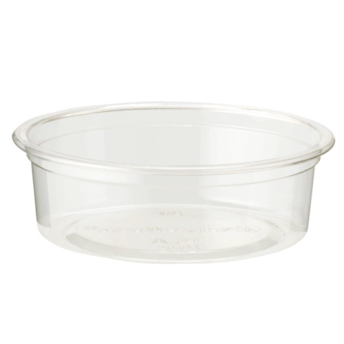 World Centric PLA Clear Flat Souffle / Portion Cup - 2 oz - CP-CS-2SF