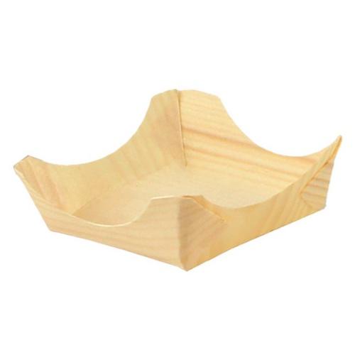 """PacknWood Wood Cradle Plate - 3.95"""" - 210BBUP42"""
