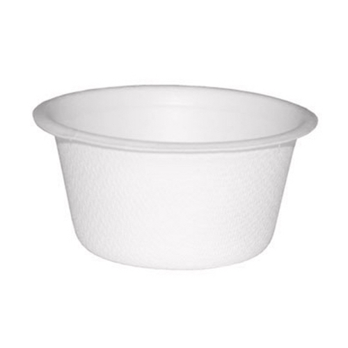 "PacknWood Sugarcane White Souffle / Portion Cup - 2 oz - 2.1"" - 210GPU7"