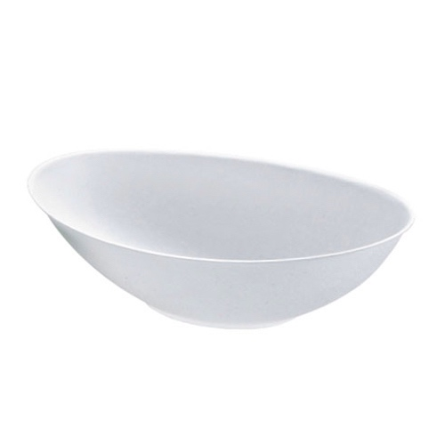 "PacknWood Sugarcane White Oval Bowl - 24 oz - 8.6"" x 5.5"" - 210BCHIC750"