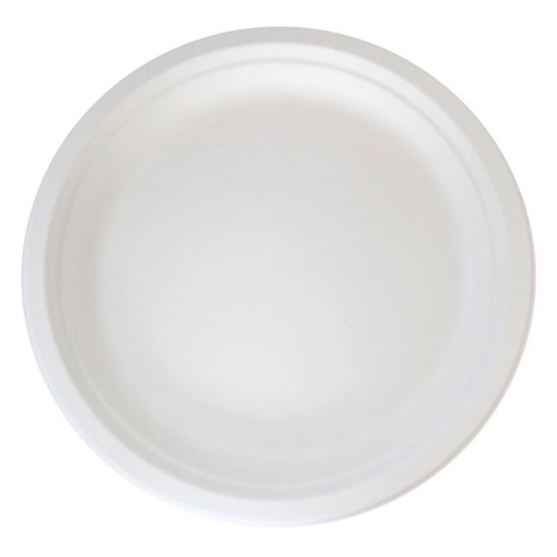 """PacknWood Sugarcane Round Plate - 10"""" - 210APU25"""
