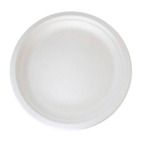 """PacknWood Sugarcane Round Plate - 7"""" - 210APU18"""