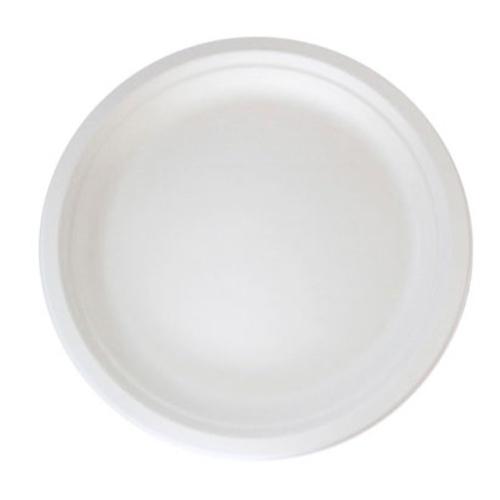 """PacknWood Sugarcane Round Plate - 6"""" - 210APU16"""