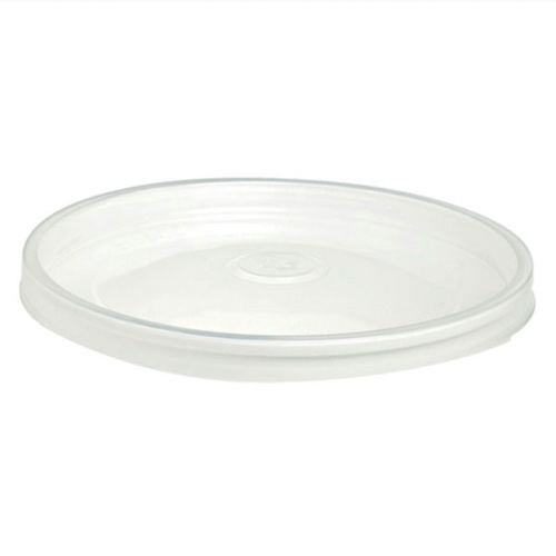 PacknWood PP Clear Flat Hot Lid for Salad Bucket - 26 oz - 210SOUPLPP157