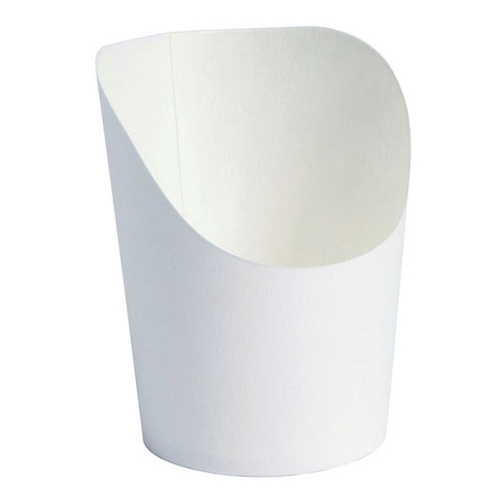 PacknWood Paper White Wrap Cup - 2 oz - 210GSP25BL