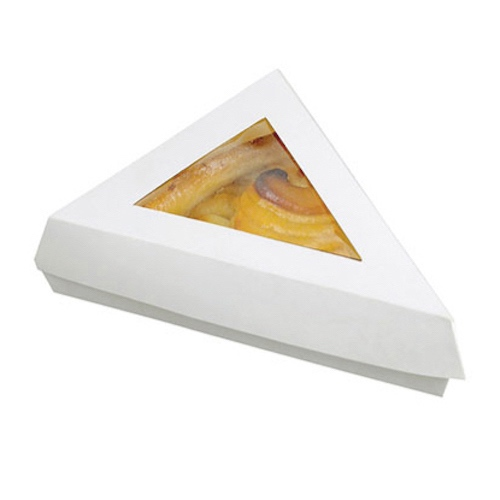"PacknWood Paper White Window Slice Box - 12 oz - 6.6"" x 6.6"" x 5.1"" - 209PATTRI"