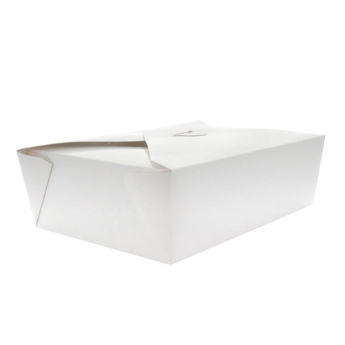 PacknWood Paper White Meal Box - 34 oz - 210BIO202