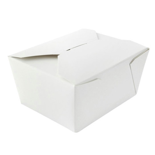 PacknWood Paper White Meal Box - 22 oz - 210BIO1