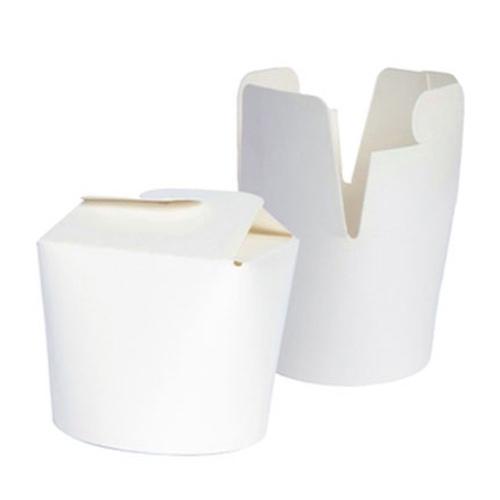 "PacknWood Paper White Pasta Box - 16 oz - 3.1"" - 210ASIE16BL"