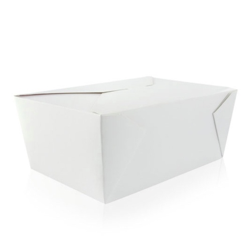 PacknWood Paper White Meal Box - 78 oz - 210BIO4