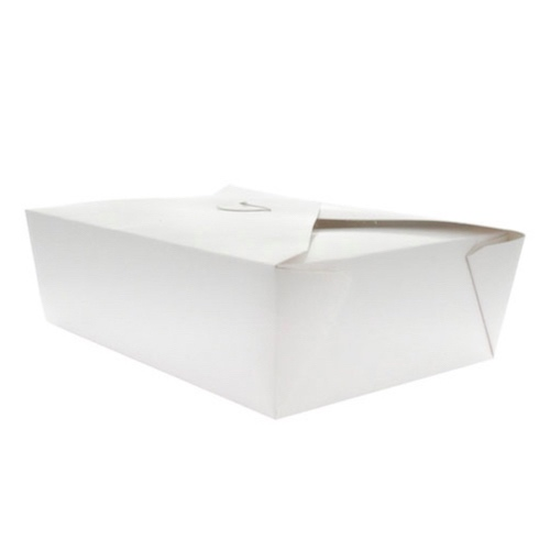 PacknWood Paper White Meal Box - 50 oz - 210BIO3