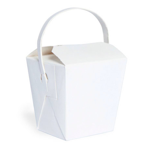 "PacknWood Paper Noodle Box Handle - 8 oz - 2.6"" x 2.8"" x 2.8"" - 210ASPAIL8BL"
