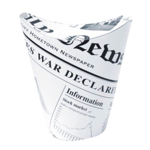 PacknWood Paper News Print Closable Snack Cup - 8 oz - 210TPASK12