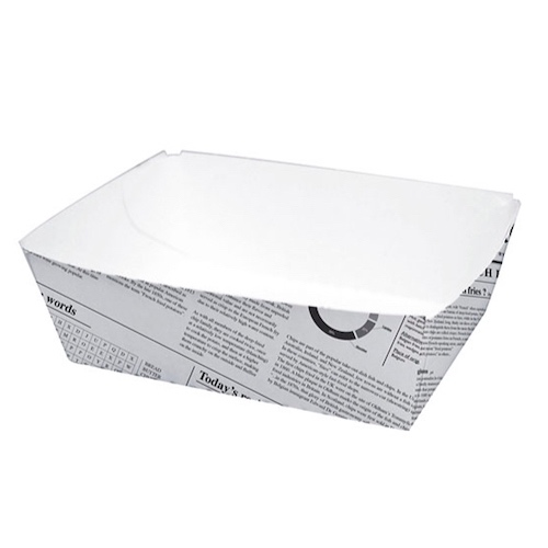 "PacknWood Paper News Print Basket - 15 oz - 4.3"" x 3.1"" x 1.6"" - 210BCNEWS440"