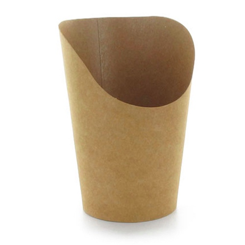 PacknWood Paper Kraft Wrap Cup - 5.5 oz - 210GSP49BR