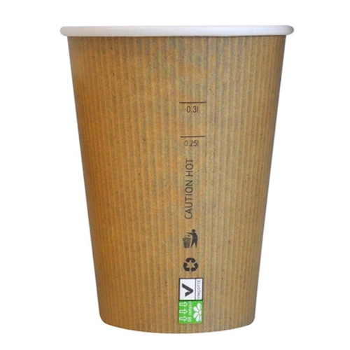 PacknWood Paper Kraft Single Wall Cup - 12 oz - 210GCBIO12