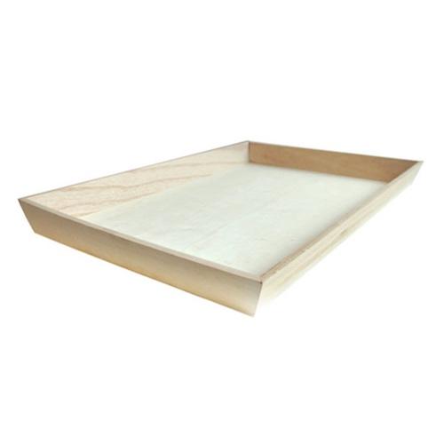 """PacknWood Wood Heavy Duty Tray - 19.7"""" x 13.75"""" x 1.6"""" - 210WOODTRAY45"""