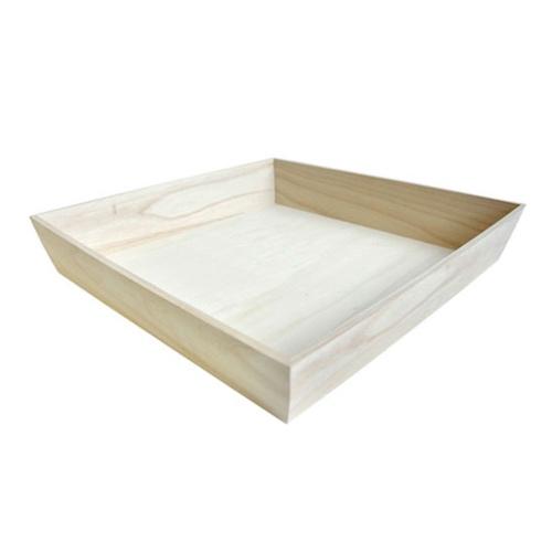 """PacknWood Wood Heavy Duty Tray - 14.75"""" x 14.75"""" x 3"""" - 210WOODTRAY32H"""
