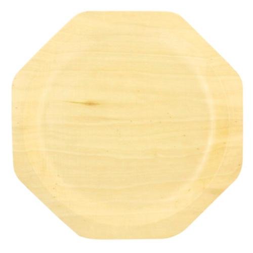 "PacknWood Wood Octagonal Scandinavia Plate - 10"" - 210BBA26"