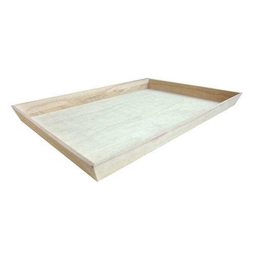 """PacknWood Wood Heavy Duty Tray - 22.7"""" x 15.7"""" x 1.75"""" - 210WOODTRAY54"""