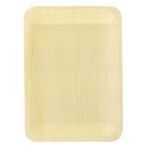 "PacknWood Wood Rectangular Scandinavia Plate - 7.6"" x 5.5"" - 210BBA191419"
