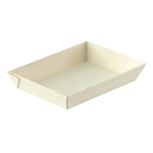 """PacknWood Wood Rectangular Samurai Tray - 3.3"""" x 2.4"""" - 210SAMBQ685"""