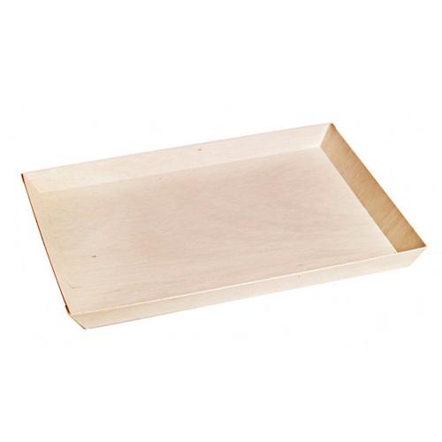 "PacknWood Wood Rectangular Samurai Serving Tray - 14 oz - 10.7"" x 14.9"" - 210SAMBQ274"