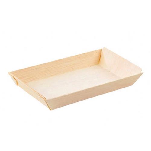 "PacknWood Wood Rectangular Dish - 5 oz - 5.1"" x 2.5"" - 210SAMBQ65"