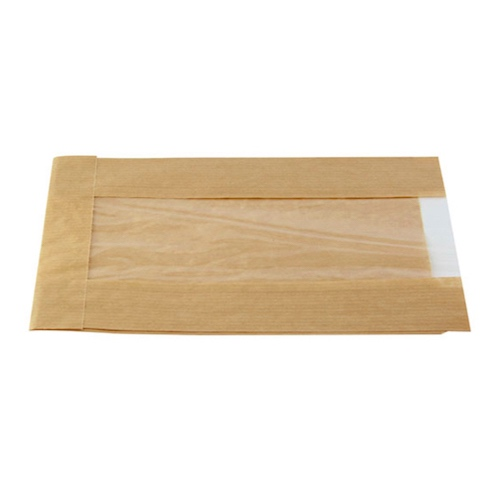 "PacknWood Paper Kraft Window Bag - 8.7"" x 5.5"" x 2.4"" - 210SVIS2214"