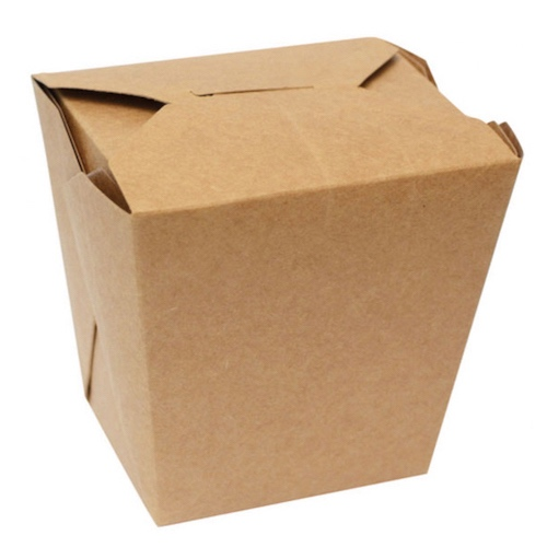 "PacknWood Paper Kraft Take Out Box - 24 oz - 4"" x 3.5"" - 210ASKRAFT26"