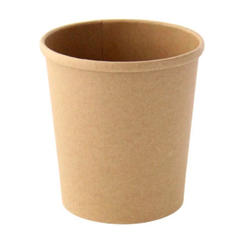 "PacknWood Paper Kraft Soup Cup - 16 oz - 3.8"" - 210SOUPK17K"