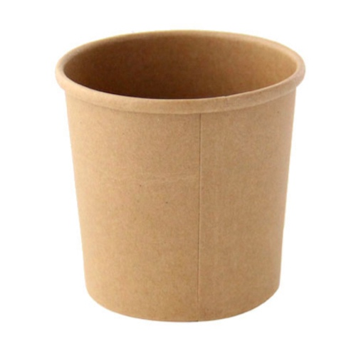 "PacknWood Paper Kraft Soup Cup - 12 oz - 3.5"" - 210SOUPK13K"