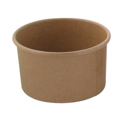 "PacknWood Paper Kraft Soup Cup - 8 oz - 3.6"" - 210SOUPK8K"