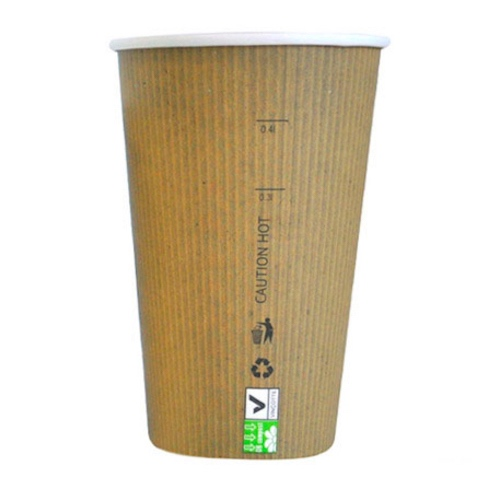 PacknWood Paper Kraft Single Wall Cup - 20 oz - 210GCBIO20