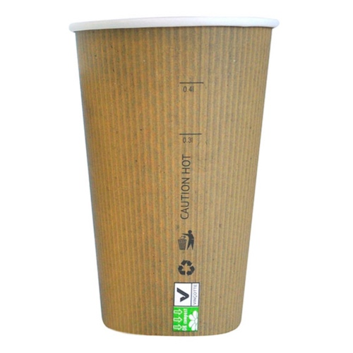 PacknWood Paper Kraft Single Wall Cup - 16 oz - 210GCBIO16