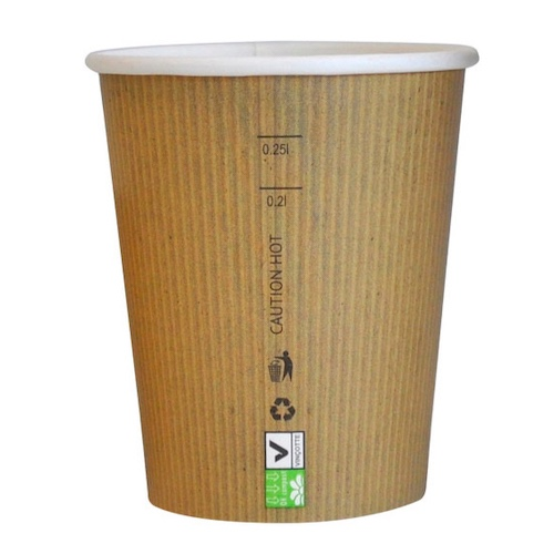 PacknWood Paper Kraft Single Wall Cup - 8 oz - 210GCBIO9