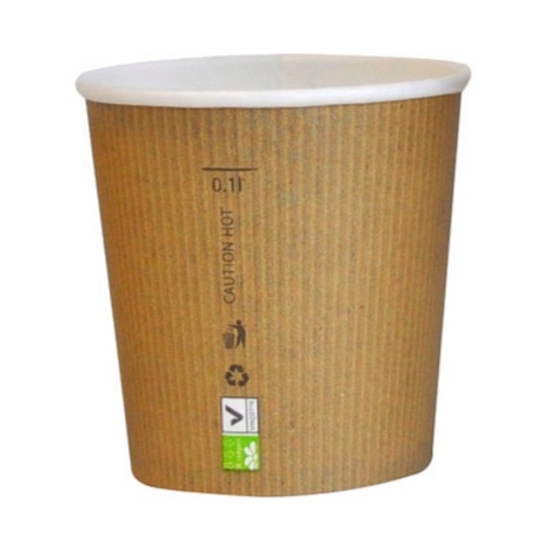 PacknWood Paper Kraft Single Wall Cup - 4 oz - 210GCBIO4
