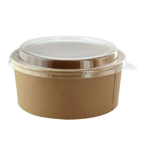 "PacknWood Paper Kraft Salad Bucket - 52 oz - 7.3"" - 210PC1550K"