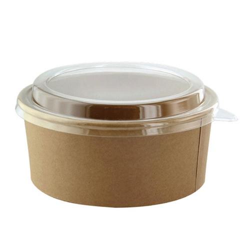 "PacknWood Paper Kraft Salad Bucket - 52 oz - 7.3"" - 210PC1550K"