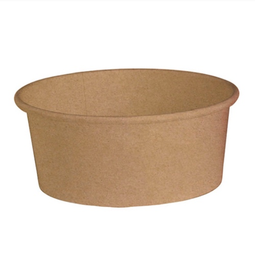 "PacknWood Paper Kraft Salad Bucket - 26 oz - 5.7"" - 210PC751K"