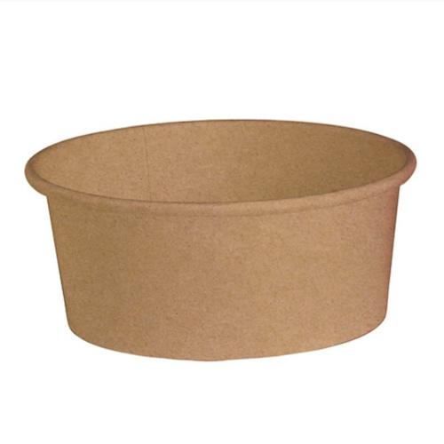 "PacknWood Paper Kraft Salad Bucket - 26 oz - 5.7"" - 210PC751K"