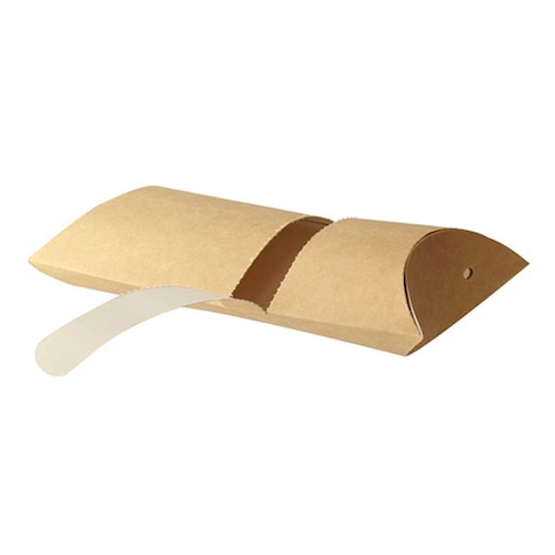 "PacknWood Paper Kraft Pillow Box - 6.3"" x 4.25"" x 1.75"" - 210CREPCAR"