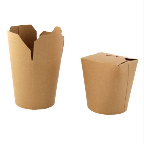 "PacknWood Paper Kraft Pasta Box - 32 oz - 3.8"" - 210ASWOK322"