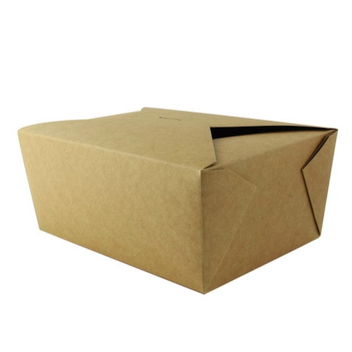 PacknWood Paper Kraft Meal Box - 78 oz - 210BIO4K