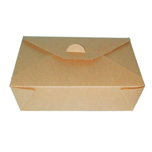 PacknWood Paper Kraft Meal Box - 50 oz - 210BIO3K